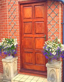 E White Funeral Director Chapel Door