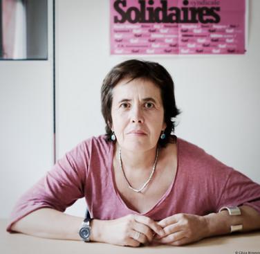 """Annick Coupé, fondatrice de Solidaires, pour """"Rock sans papiers"""""""