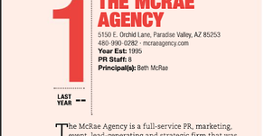 The McRae Agency Voted #1 PR Agency by Ranking Arizona - Best of Arizona Businesses 2020