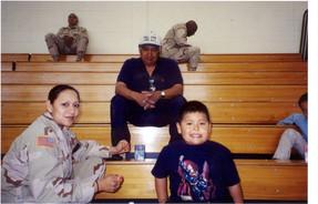 Lori, Terry & Brandon at Deployment.jpg