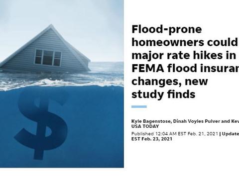 Flood premiums changing