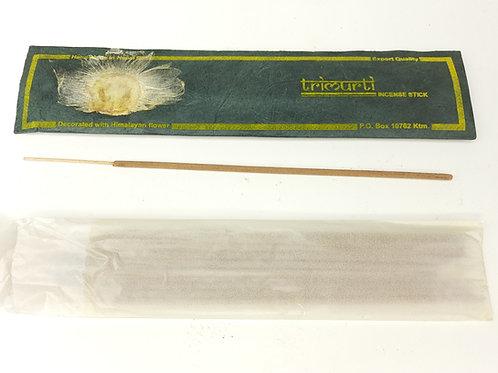 Incenso Trimurti / 100% Naturale in Confezione Lokta con fiore Himalayano