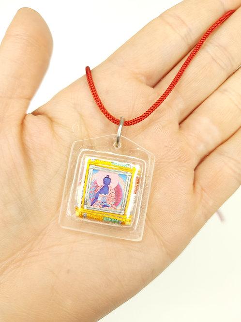 Ciondolo di Protezione / Buddha della Medicina e Mandala