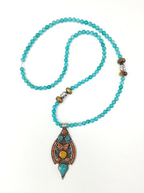 Collana Ciondolo Tradizionale Buddha e Occhio di Tigre
