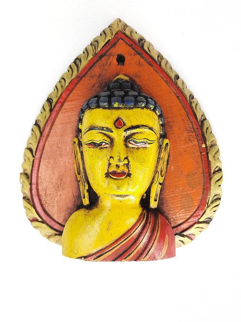 Viso Buddha / Legno Color Ocra