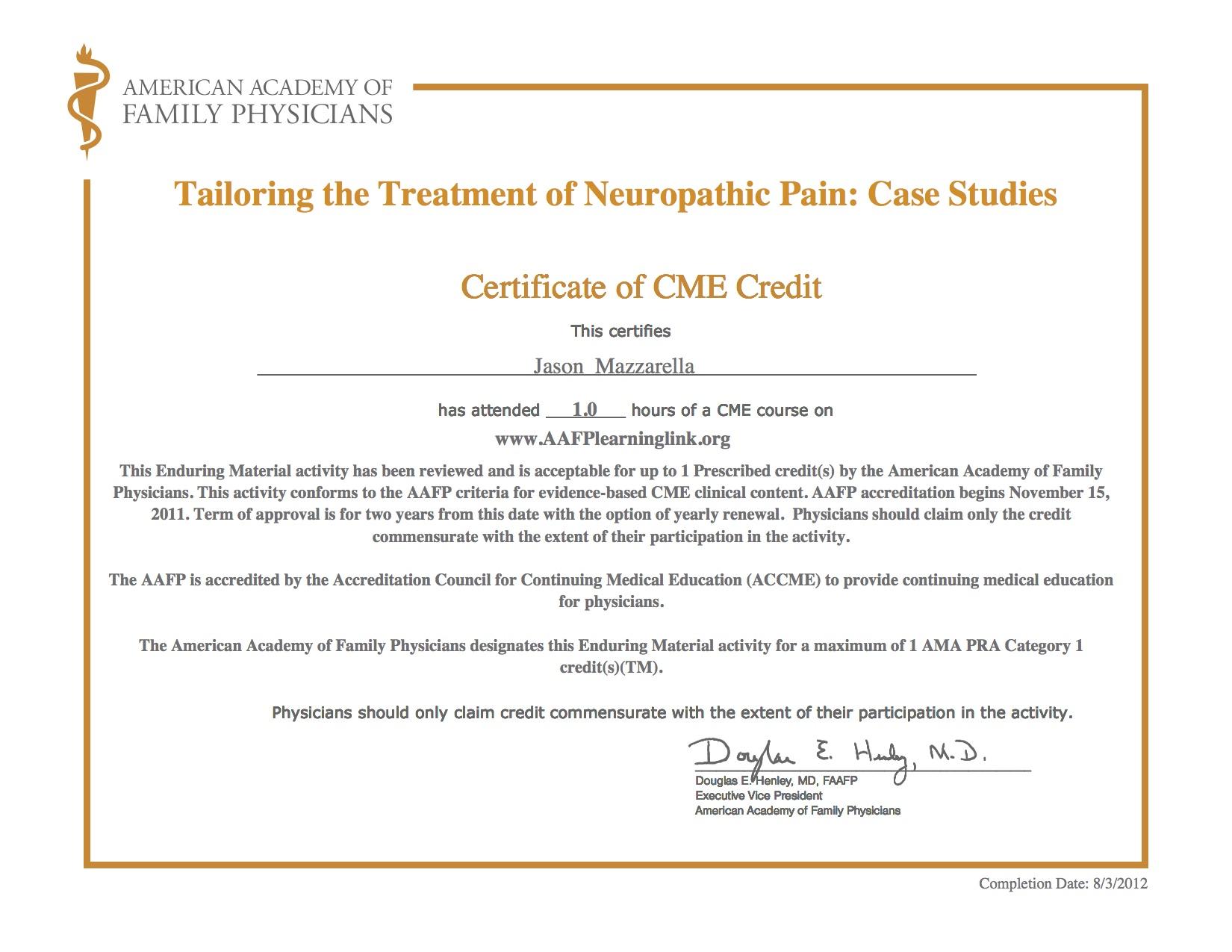 AAFP Cert Neuropathic 7