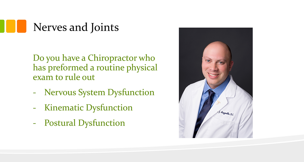 Chiropractors help with Nervous System and Joint Dysfunction