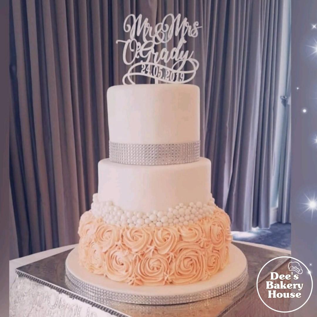 3 tier Wedding Cake Dee's Bakery House.j