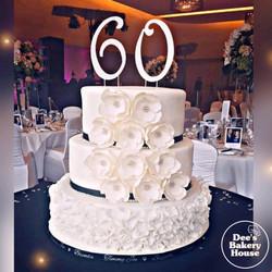 3 tier Wedding Cake edible flowers Dee's
