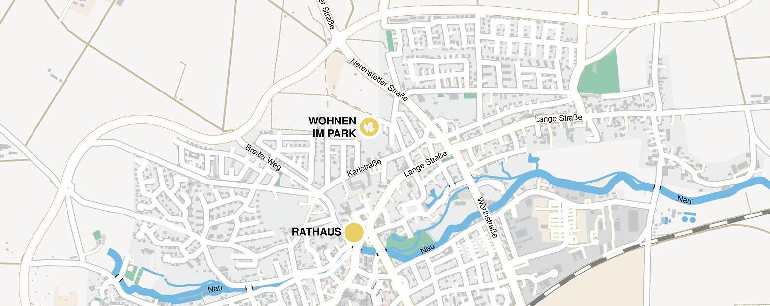 Karte Langenau