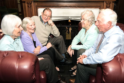 Group of older people chatting