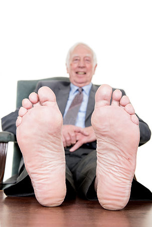 Man and his feet