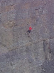 Person abseiling