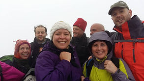 People taking part in the Welsh Three Peaks Challenge for ACCV