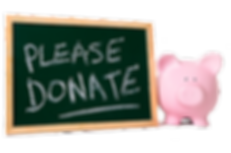 Pleae donate chalkboard and piggy bank