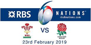 Wales v Englad 6 nations poster