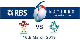 Wales v Ireland 6 nations poster