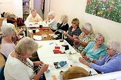 Ladies chatting in Senior Health Shop