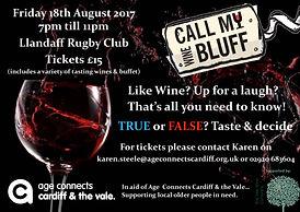 Call my Wine Bluff poster