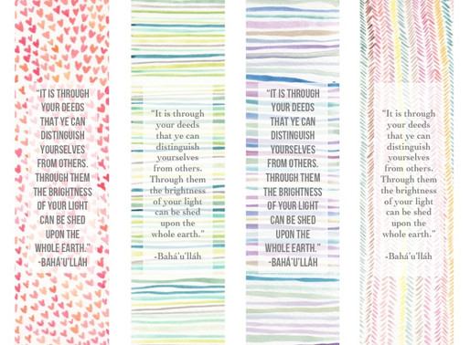 Watercolor & Quote Bookmark Printable