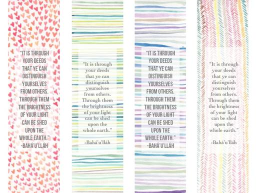 Watercolor & Quote Bookmark Printable
