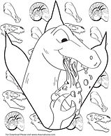 Dinosaure Eating Pizza Coloring