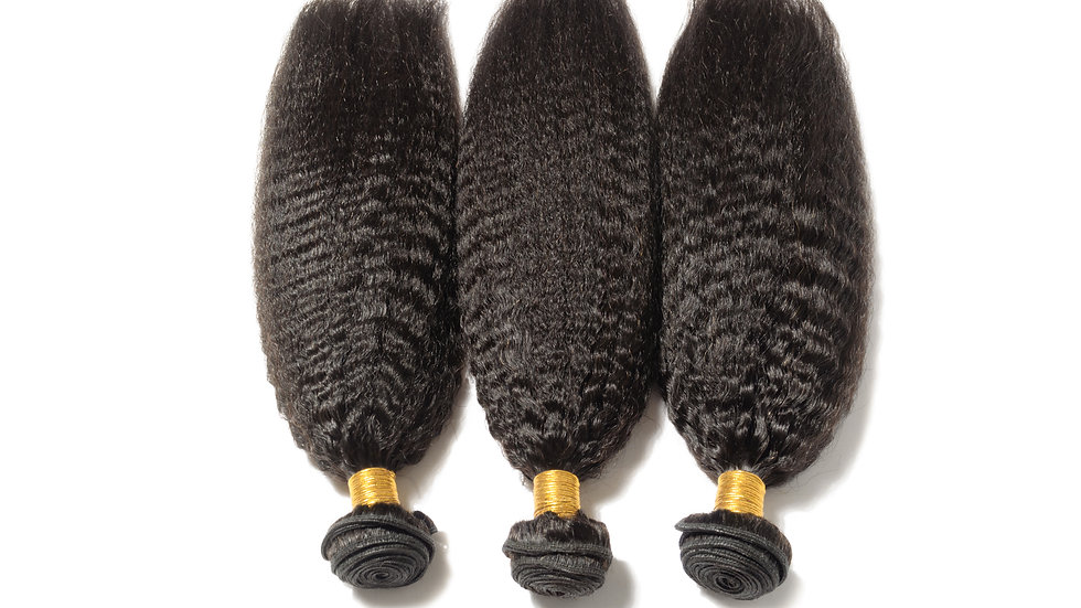 100%Raw Unprocessed Virgin Human Hair Brazilian Yaki Blowout Straight