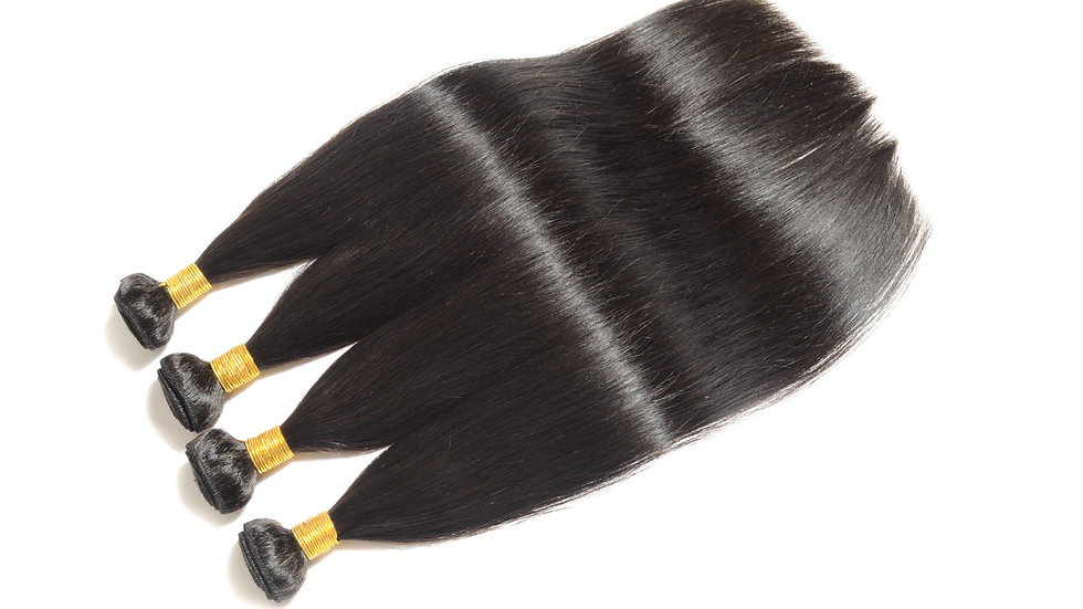 100% Raw Unprocessed Virgin Human Hair Indian Remy Straight