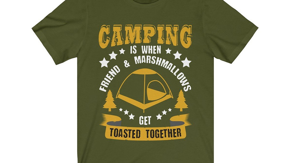 Camping Is When Friends and Marshmallows Toasted Together Short Sleeve Tee