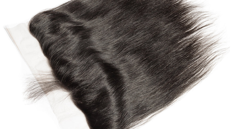 100% raw Unprocessed virgin Brazilian straight full frontal lace closure