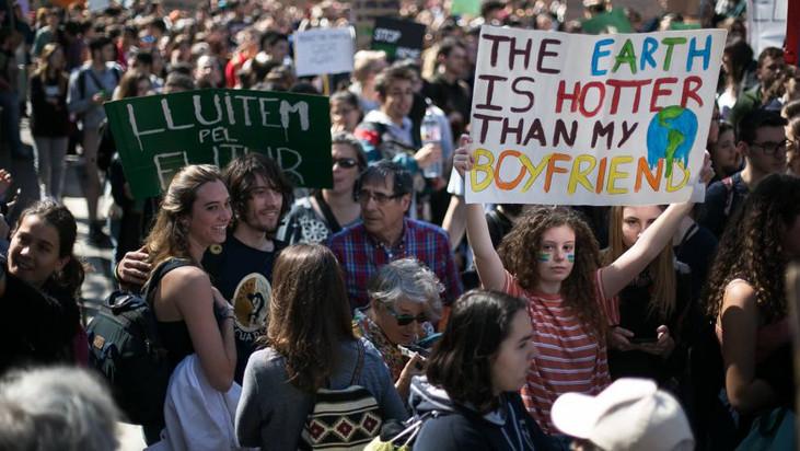El grito de los jóvenes contra el cambio climático se convierte en global