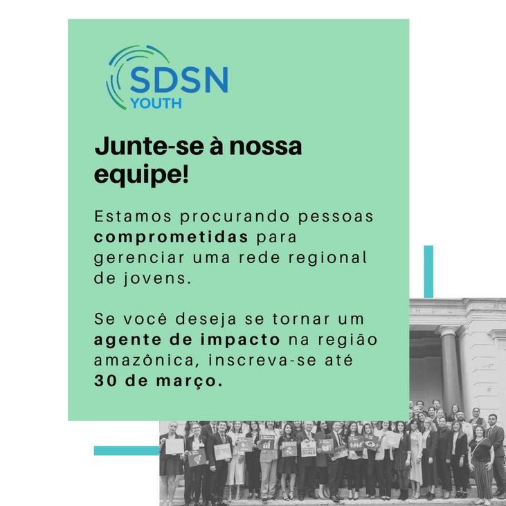 Seleção para coordenador (a) da rede de Jovens da SDSN Amazônia