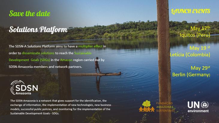 Save the date: Lanzamiento de la plataforma de soluciones SDSN- Amazonía