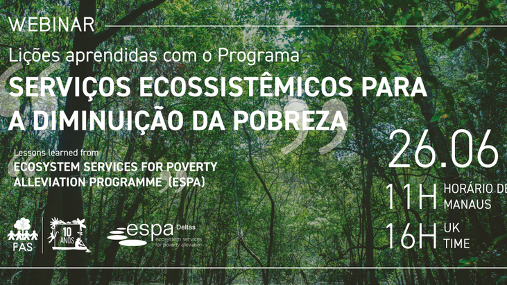 "SAVE THE DATE • Webinar on Lessons learned from ""Ecosystem Services for Poverty Alleviation"" (ESPA)"