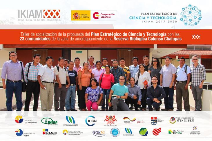 IKIAM socializa su plan estratégico de ciencia y tenecología con comunidades, actores locales y naci