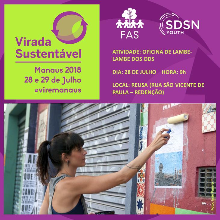 ODS da ONU pauta atividade da SDSN Jovem Amazônia durante a Virada Sustentável 2018