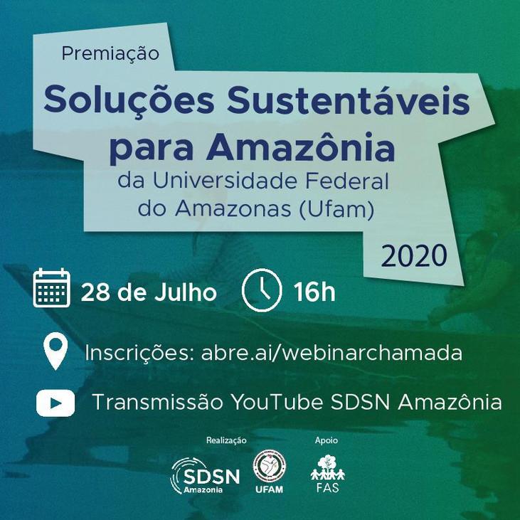 SDSN Amazônia e UFAM premiam soluções sustentáveis para região amazônica