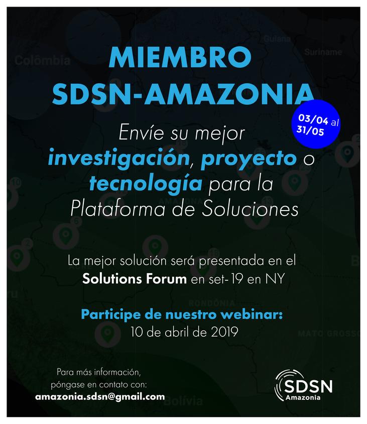 Convocatoria de soluciones innovadoras para la Plataforma de Soluciones SDSN-Amazonia