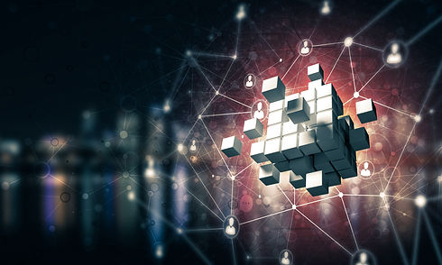 Conceptual background image with cube fi