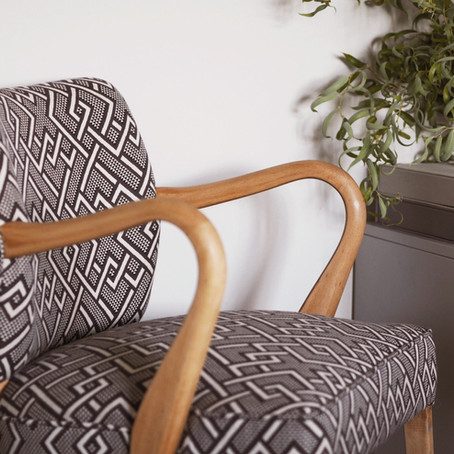 HOME | CHAIR MAKE OVER WITH LINWOOD FABRIC