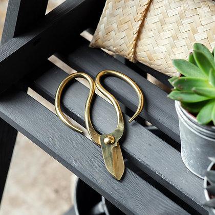 Garden Scissors in Bamboo pouch