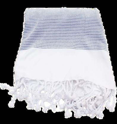 Blue Thin Striped Organic Peshtemal Towel