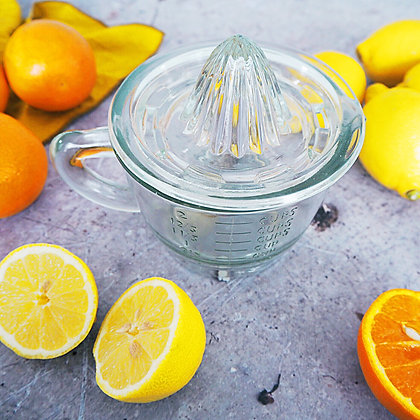 Glass Lemon Squeezer and Jug