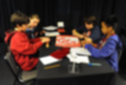Teams playing school SCRABBLE