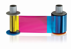 84057 YMCKI Full-color ribbon with resin black and inhibitor panels