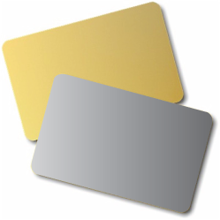 Blank Gold / Silver Cards | Pack of 100
