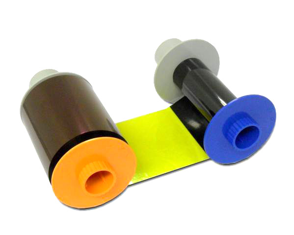 HDP5000 YMCFK COLOUR & FLUORESCING RIBBON - 500 PRINTS