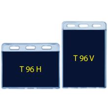 T-96 Clear Vinyl Badge Holder - 12 Pack