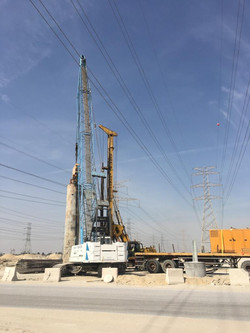 Piling Work under the Power Line
