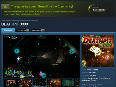 Deathpit3000 is Greenlit!!